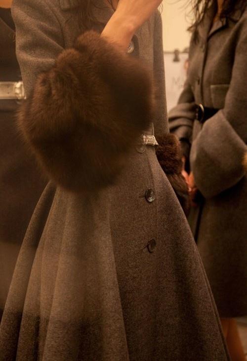 Manteau brun Prada