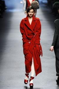 Manteau rouge Sonia Rykiel