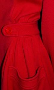 Manteau rouge Valentino