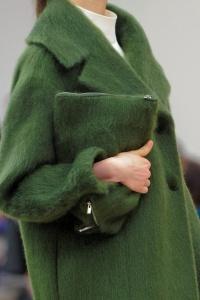 Manteau vert Céline