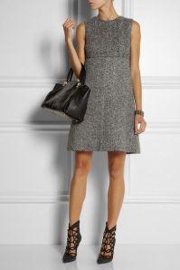 Robe grise +sac