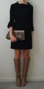 Robe noire+bottes