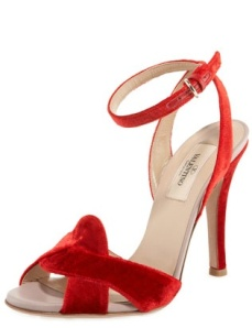 Valentino chaussure velours rouge