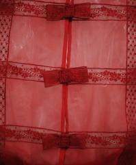 Valentino détail dentelle rouge