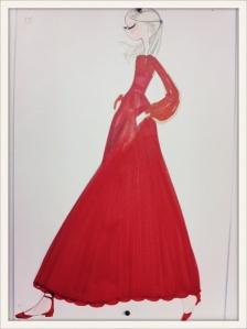 Valentino dessin robe
