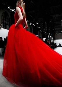 Valentino Robe rouge tulle