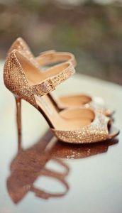 Mariée chaussures jimmy choo rose gold