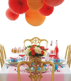 Couleurs Table lampion