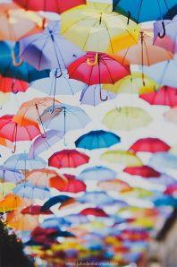 Pluie parapluie couleur