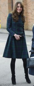Kate Middleton - Alexander Mc Queen Tartan