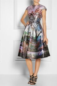 Mary Katrantzou robe metal