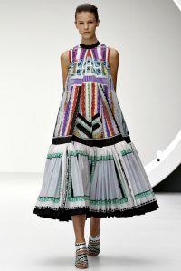 Mary Katrantzou robe trapèze SS13