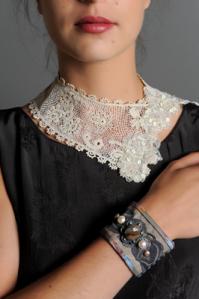 Dentelle une robe un collier col