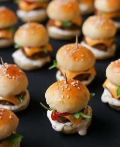Brunch mini burger