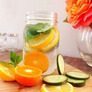 Detox water orange