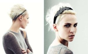 Coiffure head band court