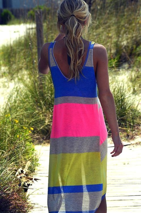 Maxi dress fluo