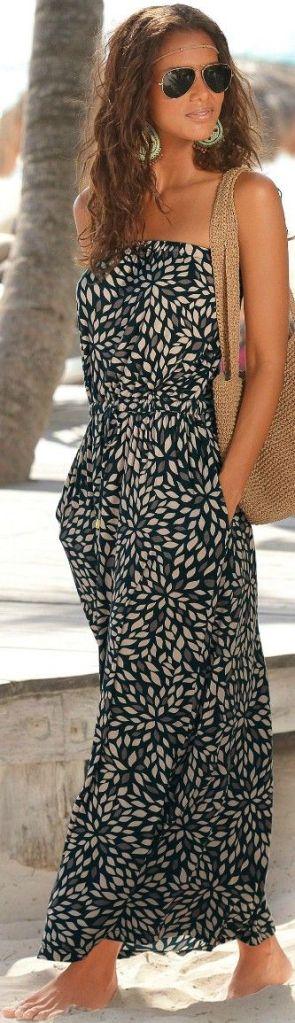 Maxi dress Noir et blanche