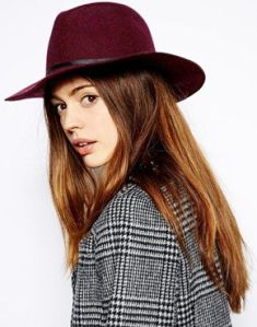 Hat bordeaux Asos
