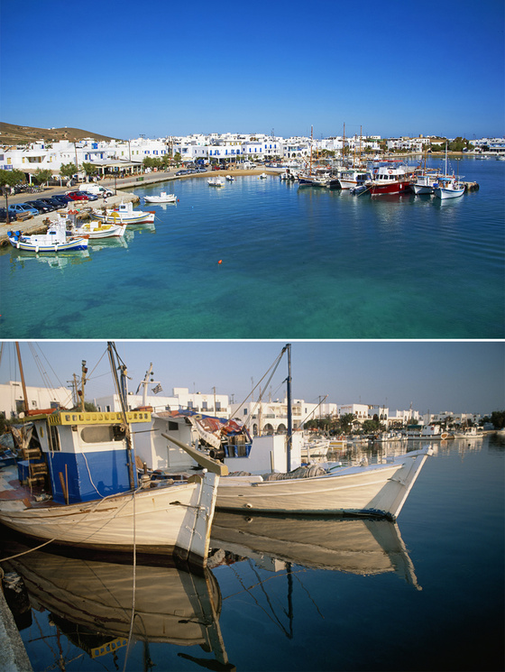 Antiparos port Vanity Fair