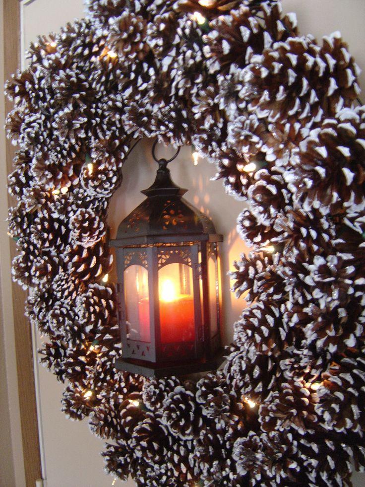 Noel pommes de pin lampe