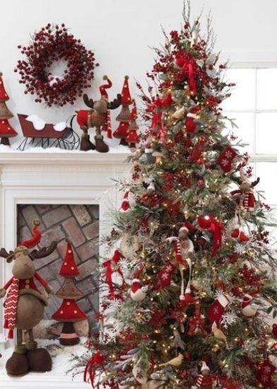 Noel sapin rouge