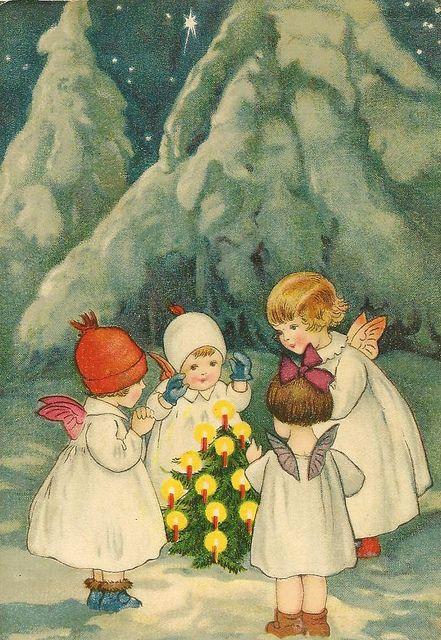 Noel vintage petites filles