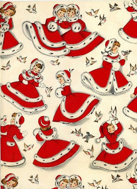 Noel vintage rouge