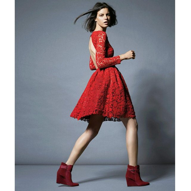 Robe rouge bash La redoute