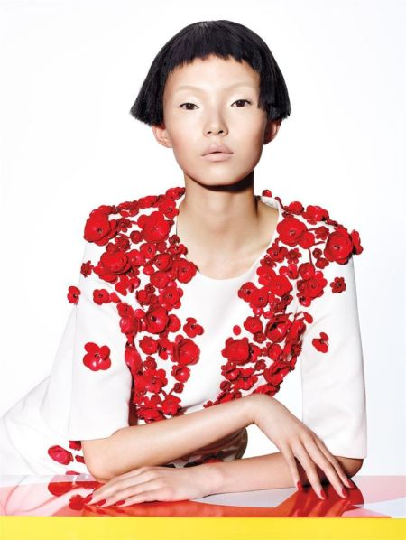 Xiao Wen Ju by Richard Burbridge for Vogue Chine January 2015