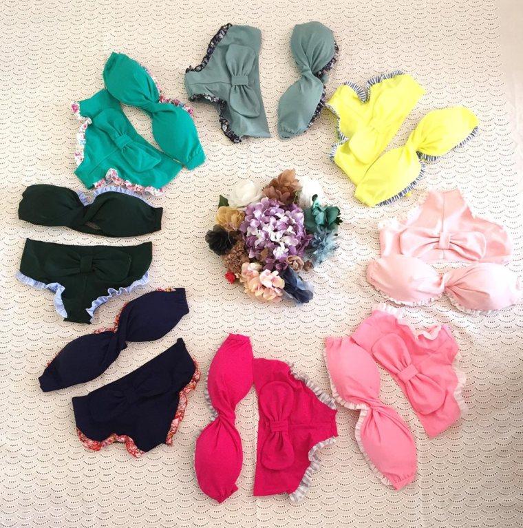 Mme Shou Shou bikini couleurs