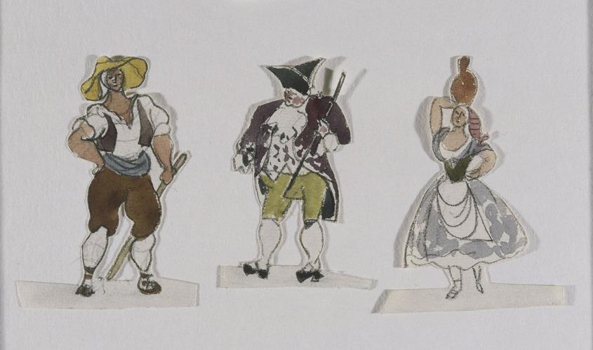6_Pablo-Picasso,-Projets-de-costumes-pour-le-ballet-Tricorne,-1919(c)Succession-Picasso-2017_(c)RMN-Grand_Palais_Musee_Picasso_Paris